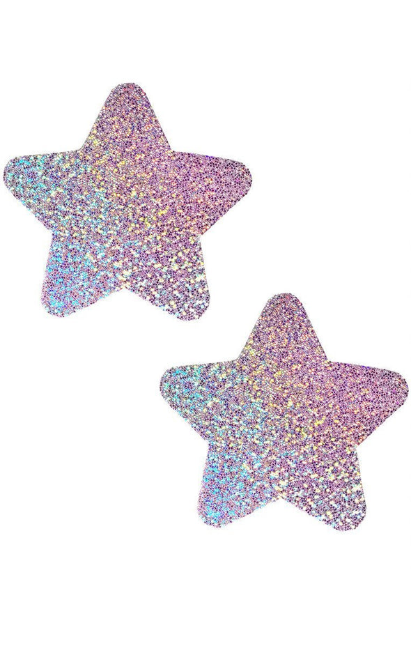 Star Pasties in Lavender Hologram - ravernationshop