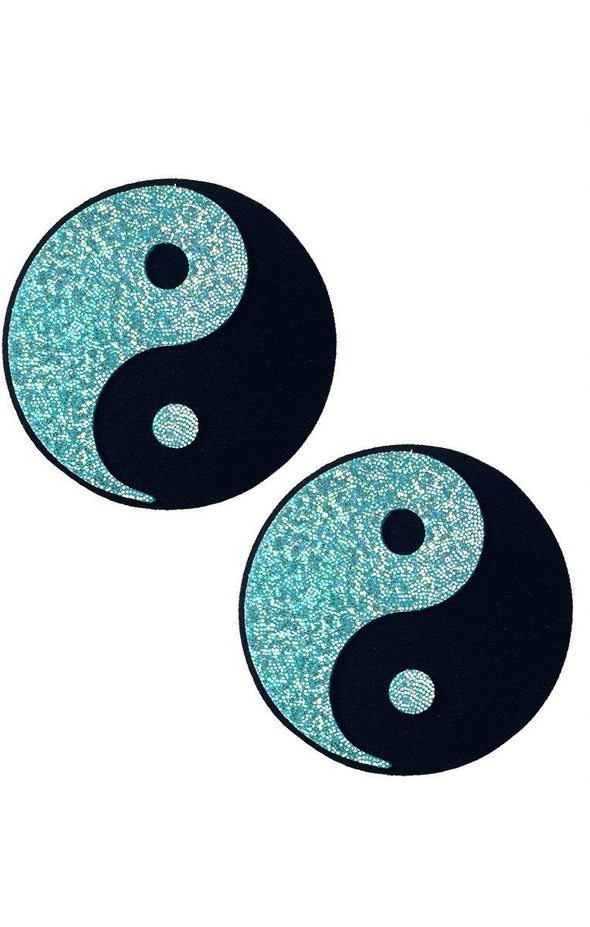 Yin Yang Pasties in Mint Hologram-Pasties-RaverNation