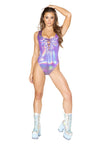 Bodysuit with Lace-up Detail - ravernationshop