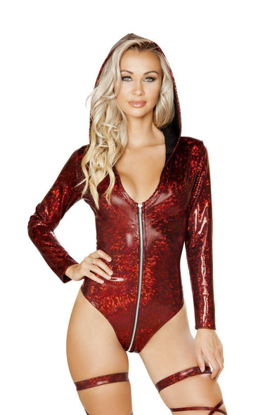 Long Sleeve Hooded Bodysuit - ravernationshop