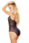 Sequin Mesh Bodysuit- Black/Blue - ravernationshop
