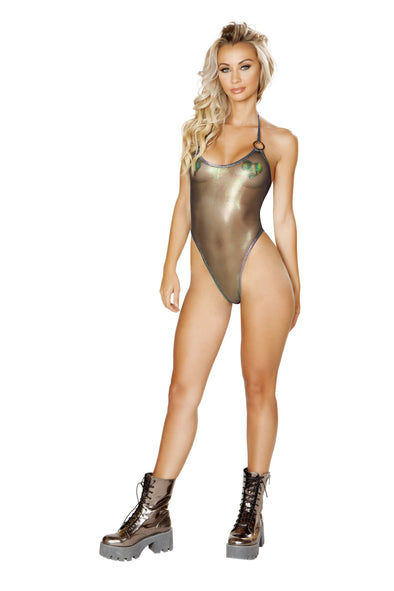 Sheer Bodysuit with O-Ring Detail - ravernationshop