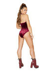 Sheer Sequin Bodysuit with Velvet Back - ravernationshop