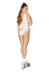 Shimmer Strappy & Lace-up Bodysuit - ravernationshop