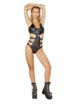 Shimmer Triple Strap Lace-up Bodysuit - ravernationshop