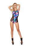 Two Tone Bodysuit with Sheer Detail - ravernationshop