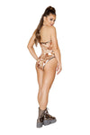 Two-Tone Sequin Bodysuit - ravernationshop