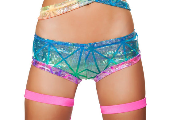 Booty Shorts- Printed - ravernationshop