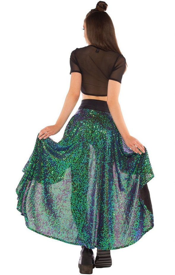 Calypso Skirt in Siren Sequin - ravernationshop