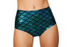 High-Waisted Pucker Back Mermaid Shorts - ravernationshop