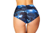 High-Waisted Puckered Printed Shorts - ravernationshop