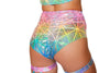 High-Waisted Shorts- Confetti - ravernationshop