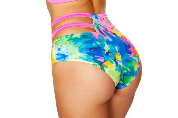High-Waisted Side Strapped Shorts- Top - ravernationshop