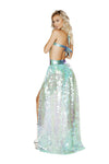 Iridescent Sequin Open Front Skirt - ravernationshop