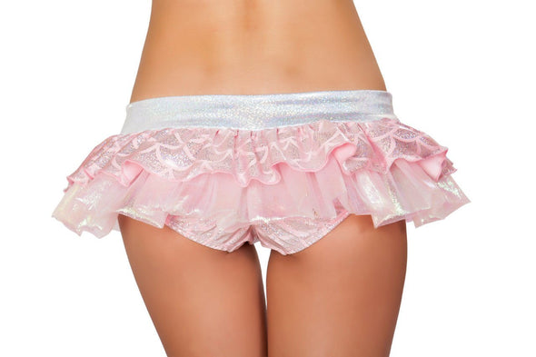 Mermaid Shorts with Attached Iridescent Skirt - ravernationshop