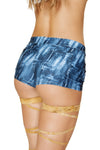 Pocketed Denim Print Shorts - ravernationshop
