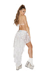 Sequin Shorts with Attached Open Front Skirt - ravernationshop