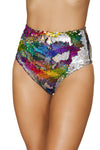 Two-Tone High Waisted Sequin Shorts - ravernationshop