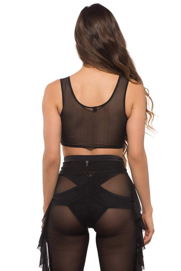 Pixie Top in Black Mesh - ravernationshop