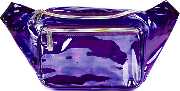 Fanny Pack Classic Purple Transparent Fanny Pack - SoJourner Bags