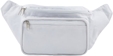 Fanny Pack Solid Color Fanny Pack (White) - SoJourner Bags