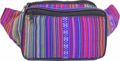 Fanny Pack Woven Boho Rose Fanny Pack - SoJourner Bags