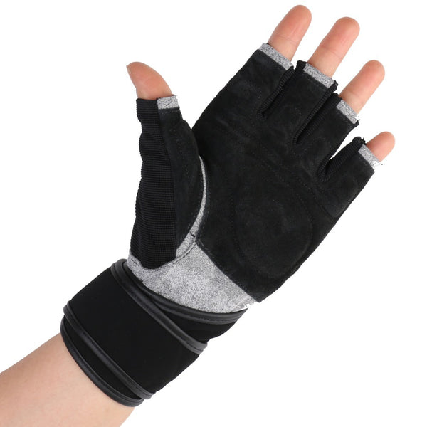 Boodun Men's/Women's Body Building Half Finger Fitness Weight Lifting Gloves