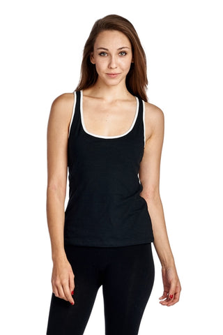 Women's Active Tank with Contrast Binding
