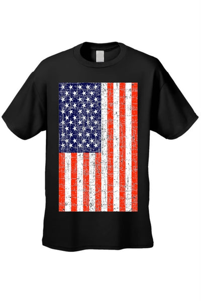 USA Flag T Shirt Men's Distressed American Pride