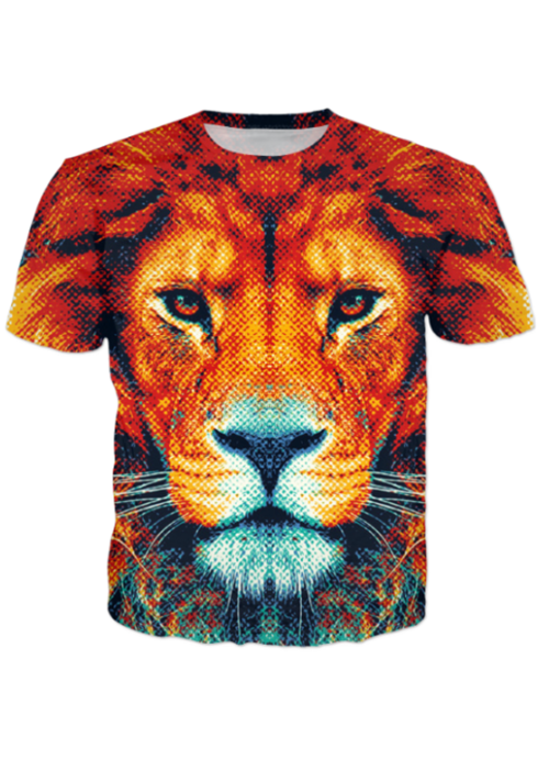 Brown Tiger All Over Printed T-Shirt