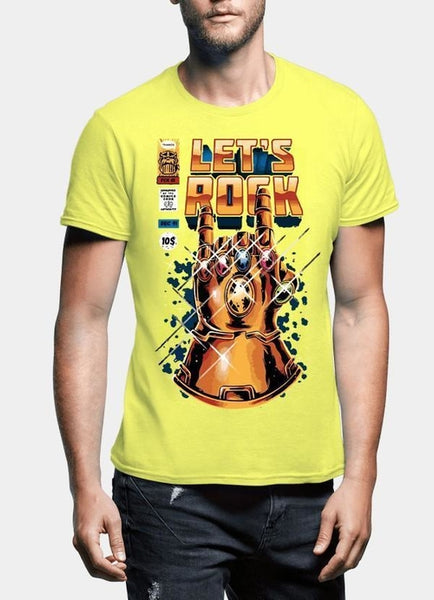 Lets Rock Half Sleeves T-shirt