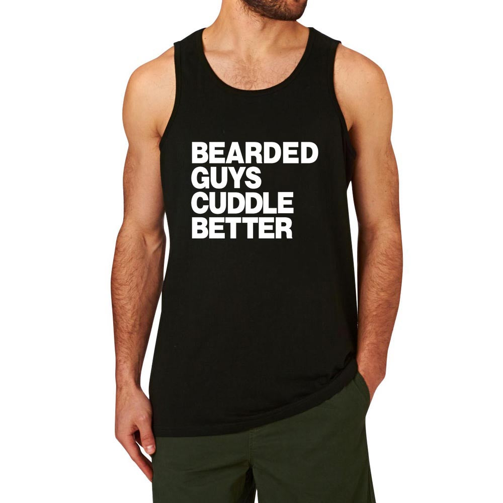 Loo Show Bearded Guys Cuddle Better Funny Workout Mens Tank Top