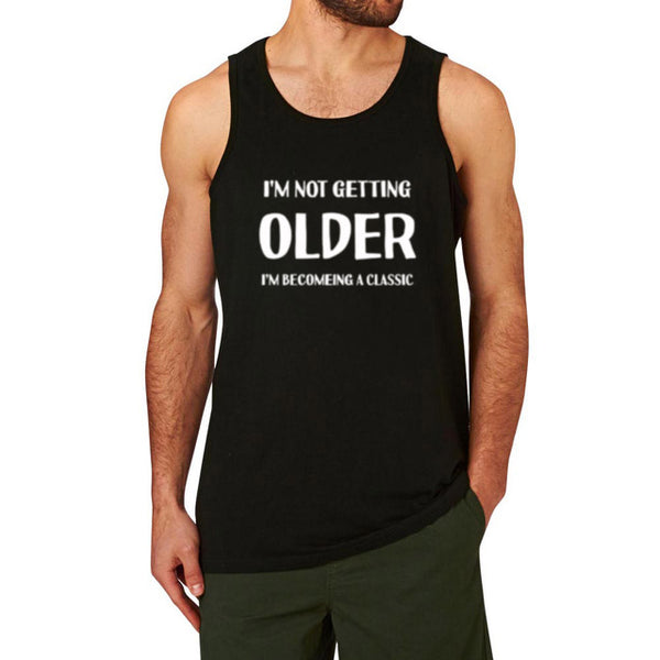 Men's I'M NOT GETTING OLD Funny Printed Fitness Workout Tank Top