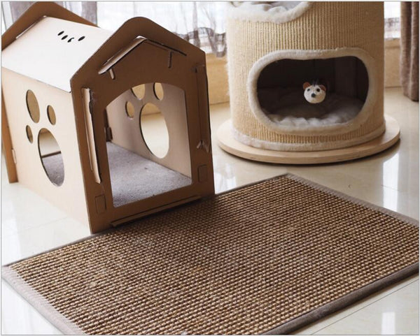 Natural sisal toy for cats Cat Scratch Pad board Protect furniture Cat litter mat cat scratch post