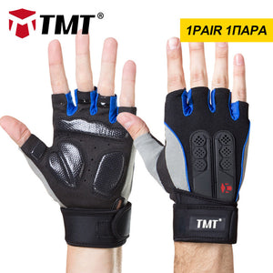 TMT Fitness Silicone Antislip Breathable Weightlifting Half Finger Gloves