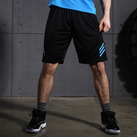 Mens Light Weight GYM Workout Running Shorts Training Soccer Tennis  Solid sports Shorts With Zip Pockets