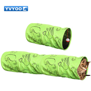 YVYOO Pet Cat Folded Indoor Outdoor Training Tunnel Toy With Ball Funny Cat Tunnel House Toys