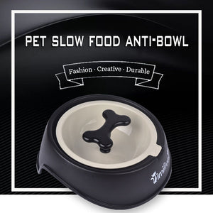 KIMHOME PET Anti Choke Plastic Bone Dog Bowl