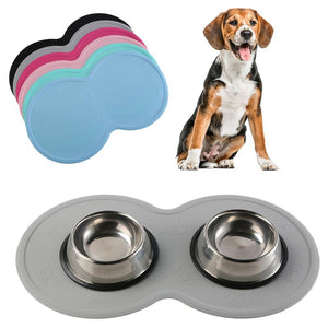 Eco-Friendly Silicone Non-Skid Wear-Resistant Pet Food Mat