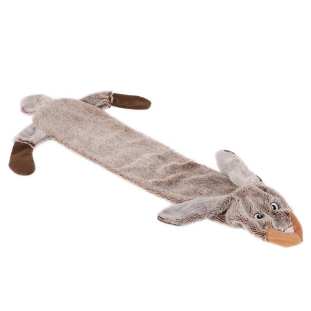 Stuffed Plush Rabbit Squirrel Squeaky Dog Toys