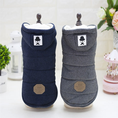 Cute Winter Padded Dog Hoodies Cold Weather Jacket