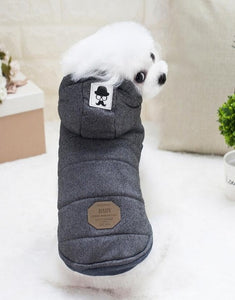 Cute Winter Padded Dog Hooded Coats