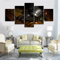 5 Panel PUBG Tools of the Trade Modern Décor Wall Art Canvas HD Print