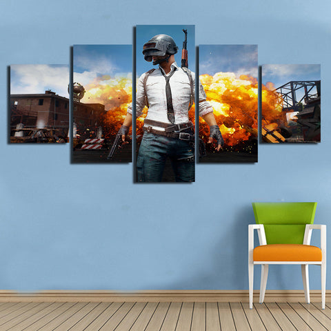 PUBG Explosion Game Poster Modern Décor Wall Art Canvas HD Print