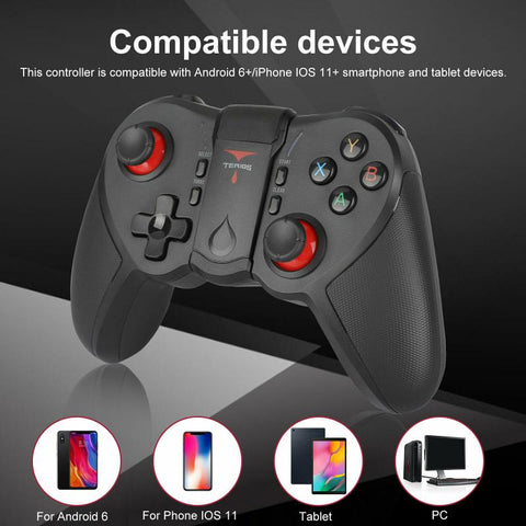 New Wholesale  Wireless Joystick Gamepad Game Controller Bluetooth BT4.0 For Android Ios Mobile Phone With Holder Gamepads