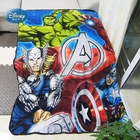Disney Super Hero Avengers Plush Throw Fleece Blanket Throw for Boys Bed Spread 127x152cm