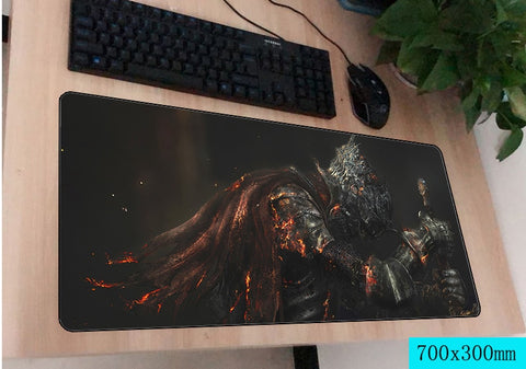 Dark Souls Kneeling Knight Large Mouse Pad 700x300mm Best PC Gaming Pad HD Print