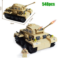 Kazi Military WW2 German Panzer III Tank 3D Model AUSF L Primary Battle Tank Building Block Toy for boy compatible with lego