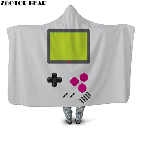 Movie & Game Character Hooded Throw Blanket Sherpa Fleece Wearable 10 Options Available