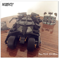 Decool 7111 2113Pcs Oversized Tumbler Bat Car Batman Combat Vehicle Block Toys